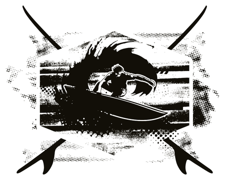 stencil surf shield with rider