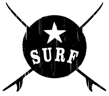 stencil vintage surf shield