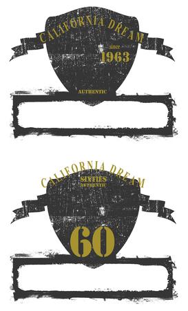 Beauty vintage shields with copy space, Vector illustration on white background. Reklamní fotografie - 84799009
