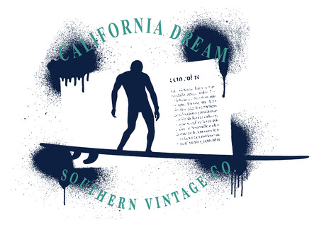 california dream surf frame Reklamní fotografie - 87418923