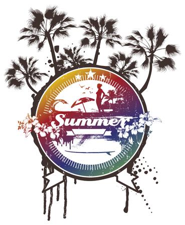 Summer circle with beauty beach. Reklamní fotografie - 91398646