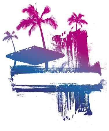 Summer gradient ink background
