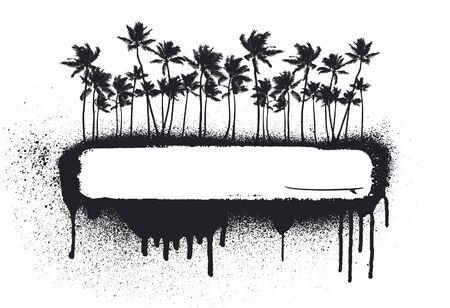 summer grunge coast Vektorgrafik