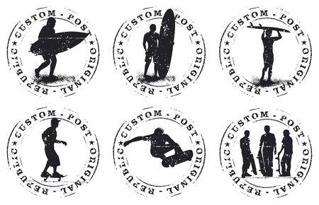 surf and skate grunge stamp