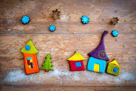 colorful christmas cookies photo