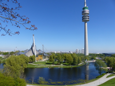 Tower of the Television in the Olympic Park of Munich 新聞圖片