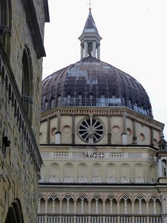 Detail of the dome of the Basilica of Santa Maria Maggiore in Bergamo Alto. Italy