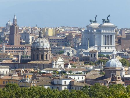 Panorama of Rome seen from the Janiculum. Italy