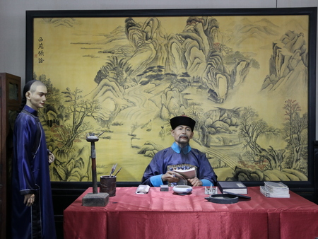 Qing dynasty wax figures