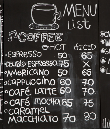 shop sign: Coffee shop sign Stock Photo