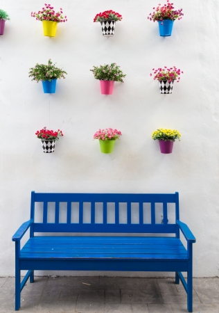 flower pots and a chair