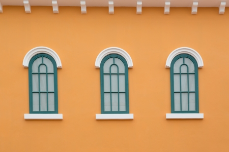 window frame: Mediterranean window Stock Photo