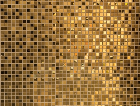 Gold mosaic texture Stock Photo - 22815786
