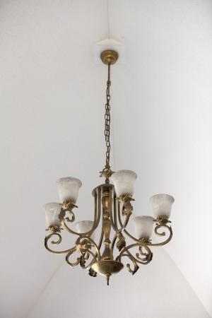 Golden chandelier Stock Photo - 23637852