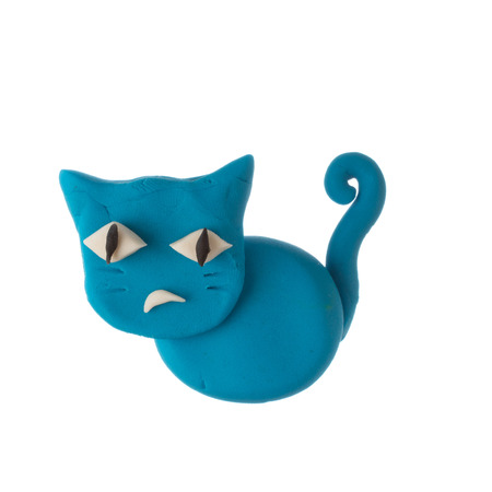 modelling clay: modelling clay cat Stock Photo