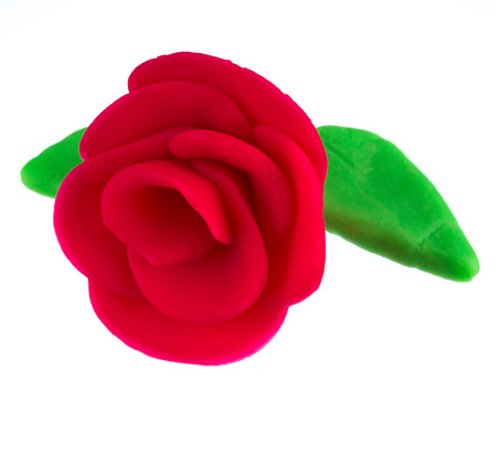 modelling clay red rose photo