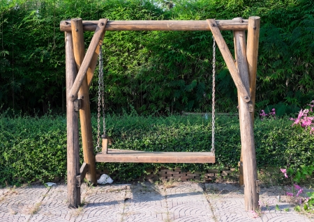 Wood swing photo