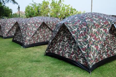 concealment: Tents Stock Photo