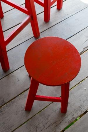 Red stool Stock Photo