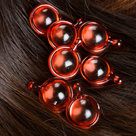 hair treatment: Hair treatment Stock Photo
