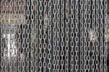 iron curtain: Iron chain curtain Stock Photo