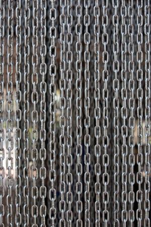 iron curtains: Iron chain curtain Stock Photo
