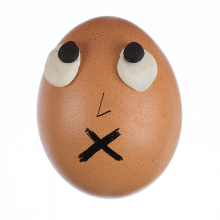 Funny egg face photo