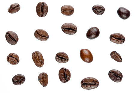 Isolated coffee beans photo