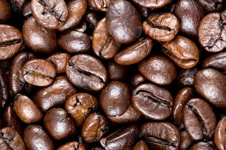 Coffee bean texture photo