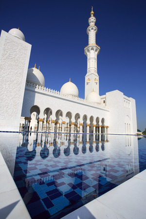 Abu Dhabi grand mosque photo