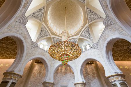 ABU DHABI, UAE - CIRCA MARCH 2014: Sheikh Zayed Grand Mosque, Abu Dhabi, in Abu Dhabi. The largest mosque in United Arab Emirates
