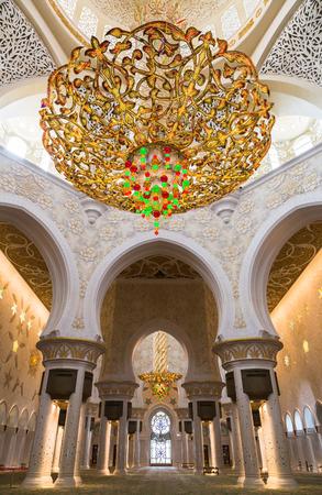 ABU DHABI, UAE - CIRCA MARCH 2014  Sheikh Zayed Grand Mosque, Abu Dhabi, in Abu Dhabi  The largest mosque in United Arab Emirates