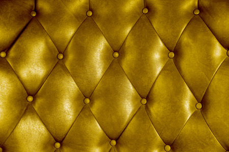 Luxury upholstery leather button chair texture in ywllow photo