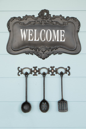 Welcome sign Stock Photo - 27917584