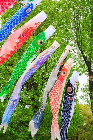 Carp flag in Japan photo