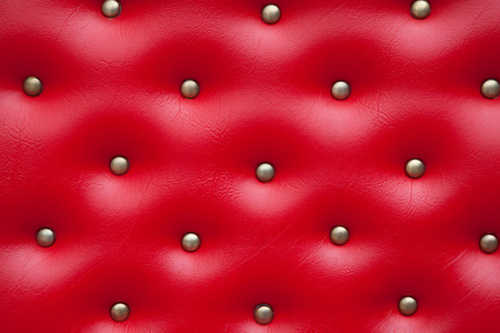Luxury leather upholstry in red photo