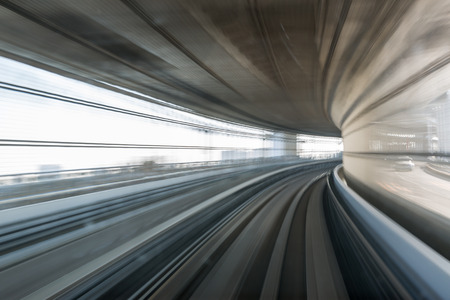 Motion blur of Japanese mono rail photo