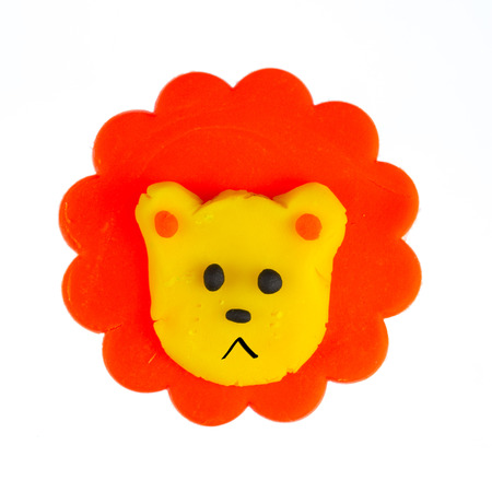 Cute lion modelling clay photo