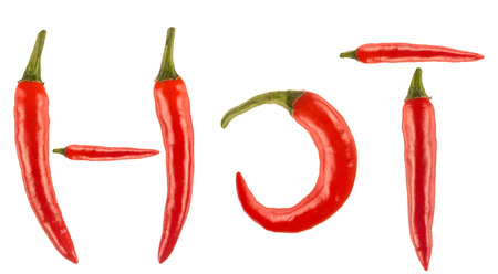 Red hot chilli isolated on white photo