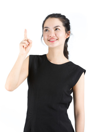 chinese people: Young asian lady with a new idea