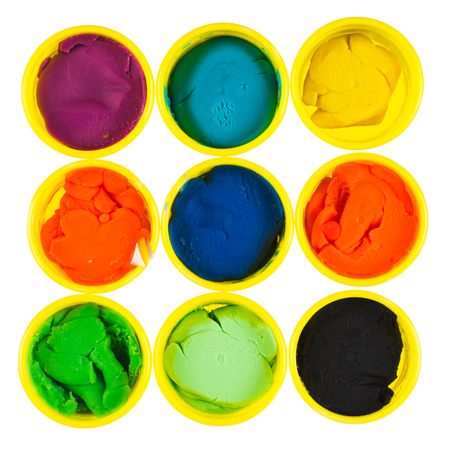 modelling clay: Collection of modelling clay isolated