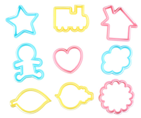 Toy cookie cutter isolated on white Stock Photo