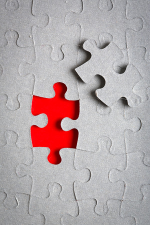missing link: Missing red jigsaw