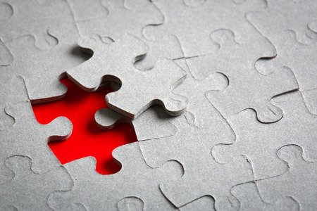 Missing red jigsaw
