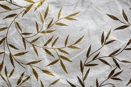 antique paper: Mulberry paper texture with golden and silver leaf