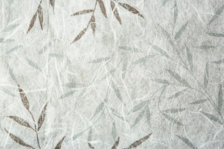 골든과 실버 잎 뽕나무 종이 질감