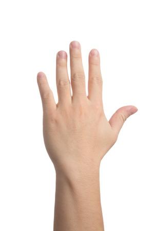 fingers: Señal de la mano
