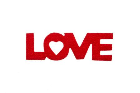 velvet: Velvet love word isolated on white background Stock Photo