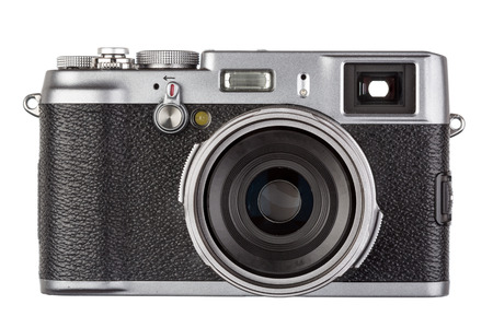 finder: An old retro range finder film camera Stock Photo