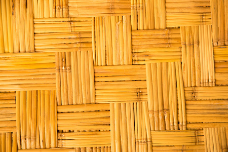 yellow  weaved traiditional bamboo wicker background photo